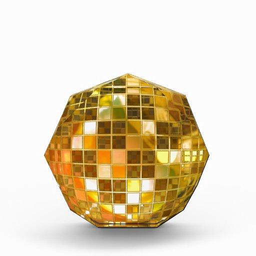 Bola de discoteca de oro