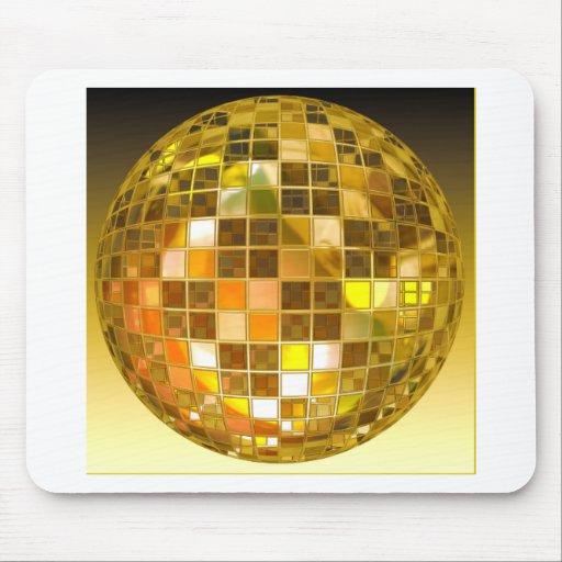 Bola de discoteca de oro alfombrilla de raton