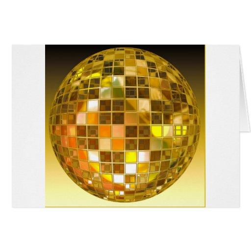 Bola de discoteca de oro tarjetón