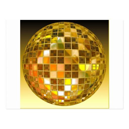 Bola de discoteca de oro postal