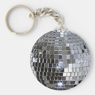 Bola de discoteca de plata llavero redondo tipo pin