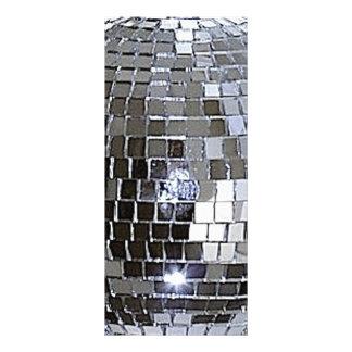 Bola de discoteca de plata plantillas de lonas