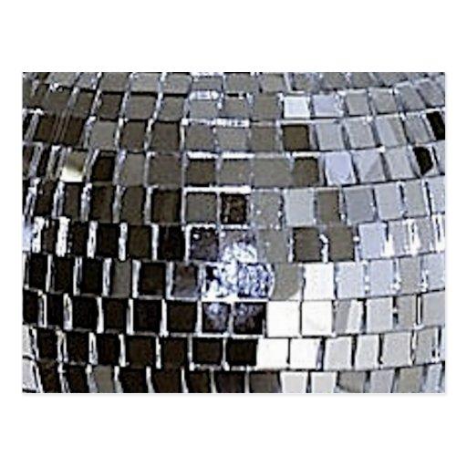 Bola de discoteca de plata postales