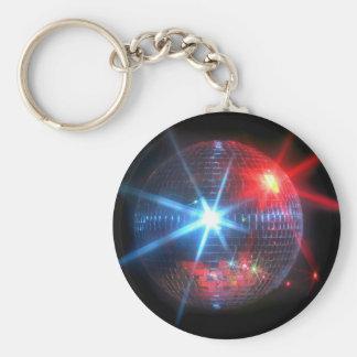 bola de discoteca del espejo con las luces laser llavero redondo tipo pin
