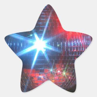 bola de discoteca del espejo con las luces laser pegatina en forma de estrella