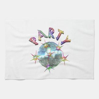 Bola de discoteca del fiesta toalla