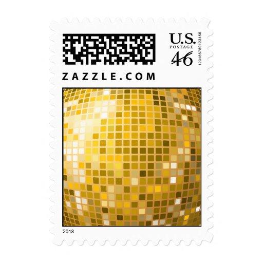 Bola de discoteca en franqueo del oro