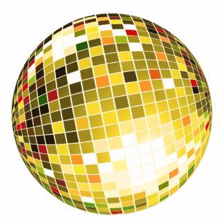 Bola de discoteca escultura fotográfica