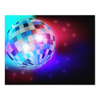 Bola de discoteca invitación 10,8 x 13,9 cm