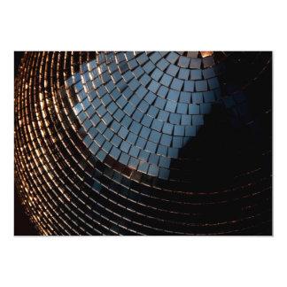 Bola de discoteca invitación 12,7 x 17,8 cm