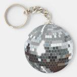 Bola de discoteca llavero redondo tipo pin