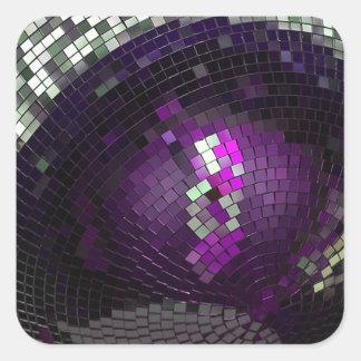 Bola de discoteca - pegatina cuadrada