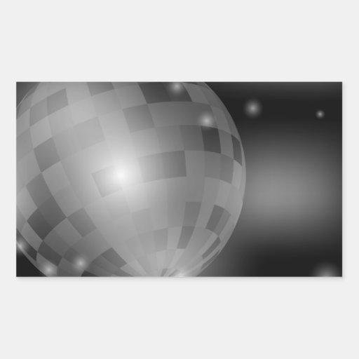 Bola de discoteca pegatina rectangular