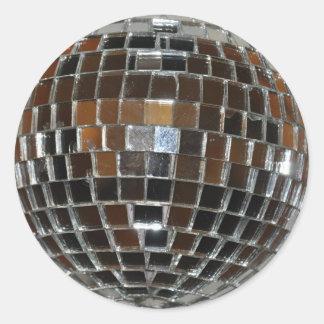 Bola de discoteca - pegatinas pegatina redonda