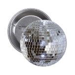 Bola de discoteca pin redondo de 2 pulgadas