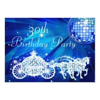"""Bola de discoteca, princesa Coach y cumpleaños de Invitación 5"""" X 7"""""""