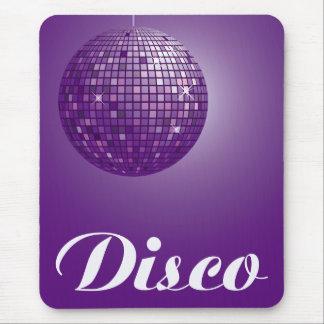 bola de discoteca púrpura alfombrilla de raton