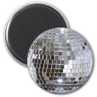 Bola de discoteca reflejada 1 imán redondo 5 cm
