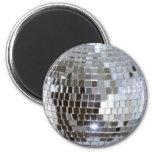 Bola de discoteca reflejada imanes para frigoríficos
