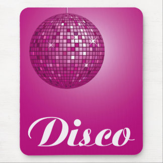 bola de discoteca rosada alfombrillas de raton