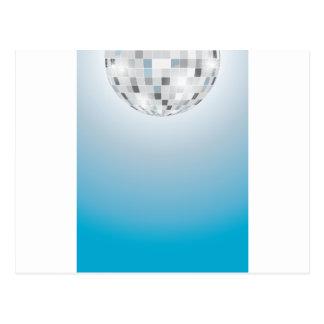 Bola de discoteca tarjetas postales