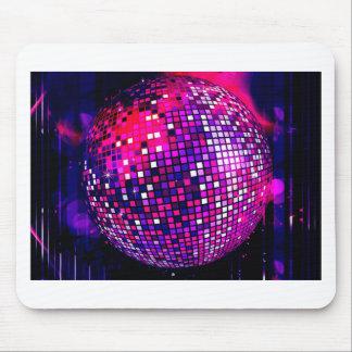 Bola de espejo rosada tapete de ratón