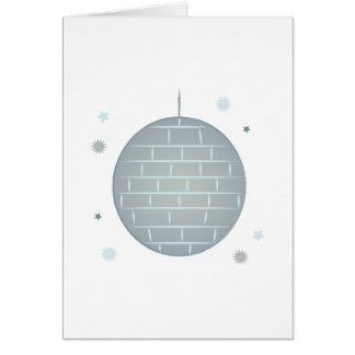 Bola de espejo tarjeta de felicitación