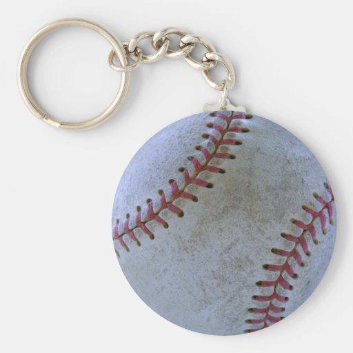 Bola de Fan-tastic_Battered del béisbol Llavero Personalizado