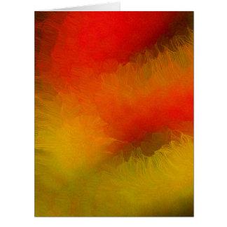 Bola de fuego del cielo nocturno tarjeta de felicitación grande