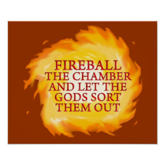 Bola de fuego la cámara póster