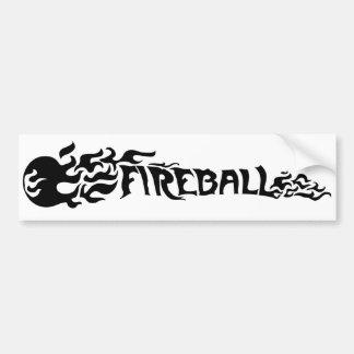 Bola de fuego pegatina de parachoque