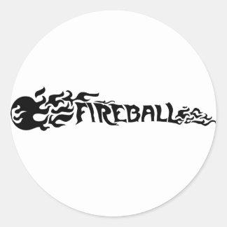 Bola de fuego pegatina redonda