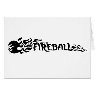 Bola de fuego tarjeta de felicitación