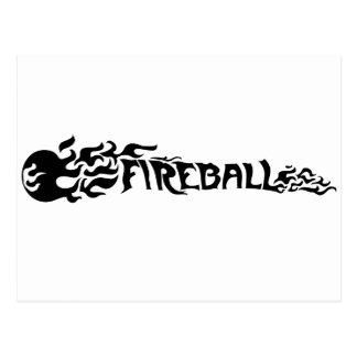 Bola de fuego tarjetas postales