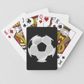 Bola de Futbol del fútbol del fútbol Cartas De Póquer