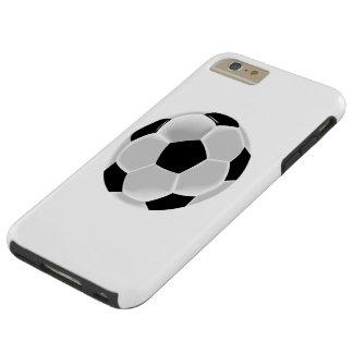 Bola de Futbol del fútbol del fútbol Funda Para iPhone 6 Plus Tough