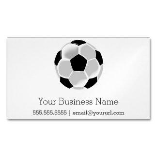 Bola de Futbol del fútbol del fútbol Tarjetas De Visita Magnéticas (paquete De 25)