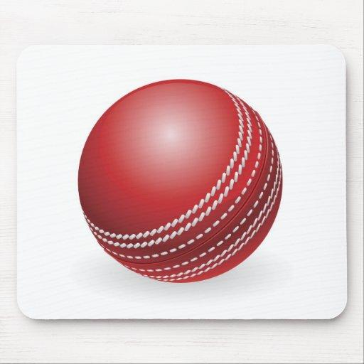 Bola de grillo tradicional roja brillante tapete de ratones