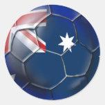 Bola de la bandera de la onza de los aficionados etiquetas redondas