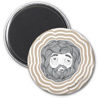 Bola de la barba iman