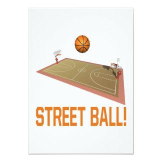 """Bola de la calle invitación 5"""" x 7"""""""