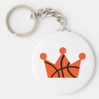 Bola de la corona del baloncesto llavero redondo tipo pin