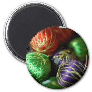Bola de la decoración de la alegría del navidad imán para frigorífico