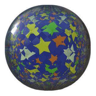 Bola de la estrella escultura fotografica