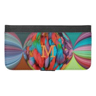 Bola de la letra multicolora de las madejas