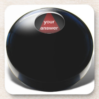 Bola de la magia 8 (añada su respuesta) posavasos de bebidas