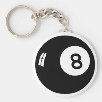 Bola de la magia 8 llavero redondo tipo pin