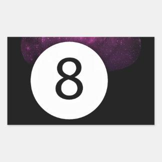 Bola de la magia 8 pegatina rectangular