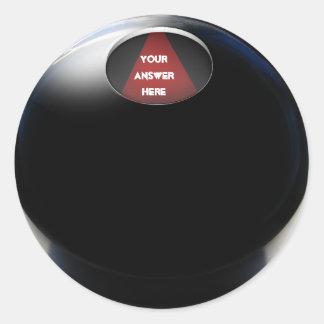 Bola de la magia 8 pegatina redonda