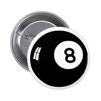 Bola de la magia 8 pin redondo de 2 pulgadas